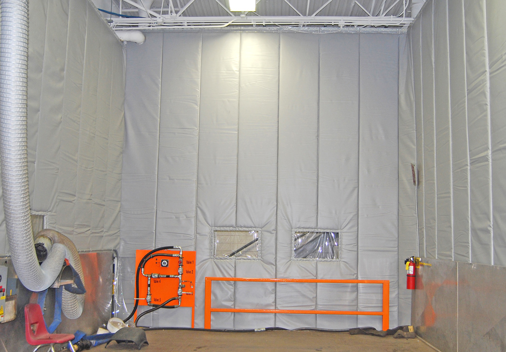 Industrial Curtain Enclosures : Industrial noise control curtains images hydraulic