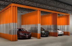 Auto Body Industrial Spray Booth Curtain