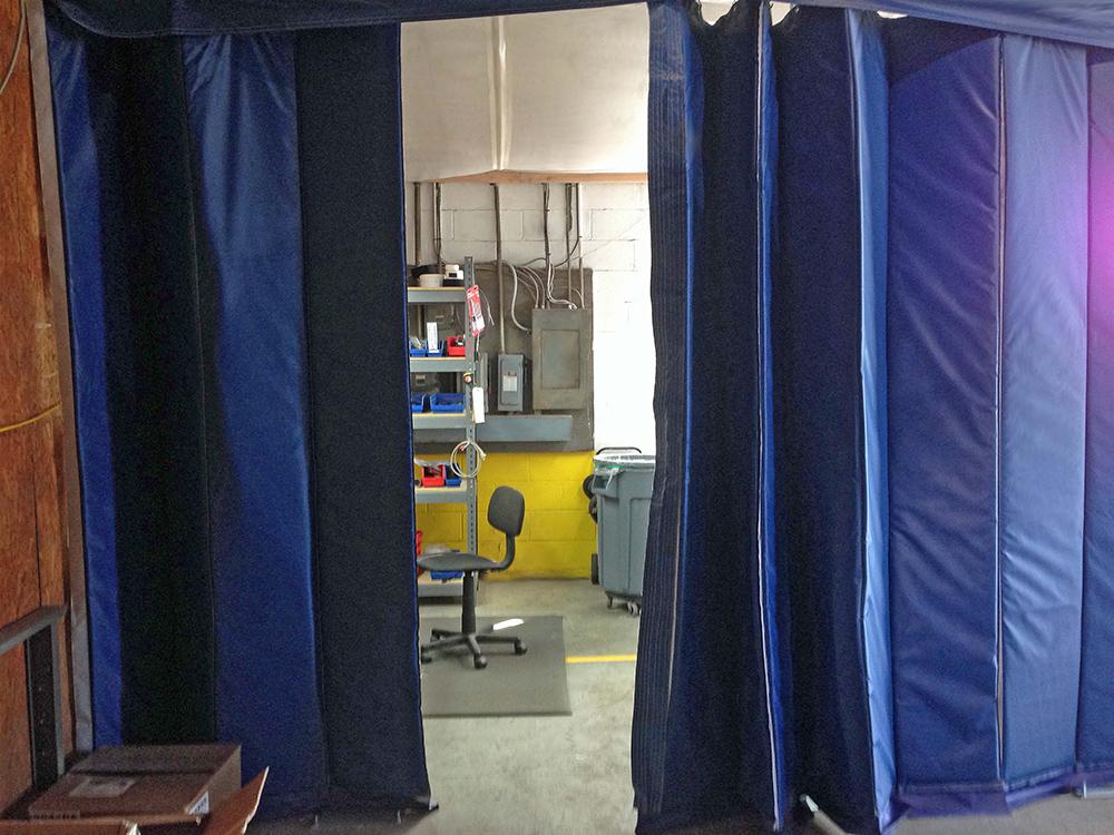 acoustic curtains sound barrier curtains dividers. Black Bedroom Furniture Sets. Home Design Ideas