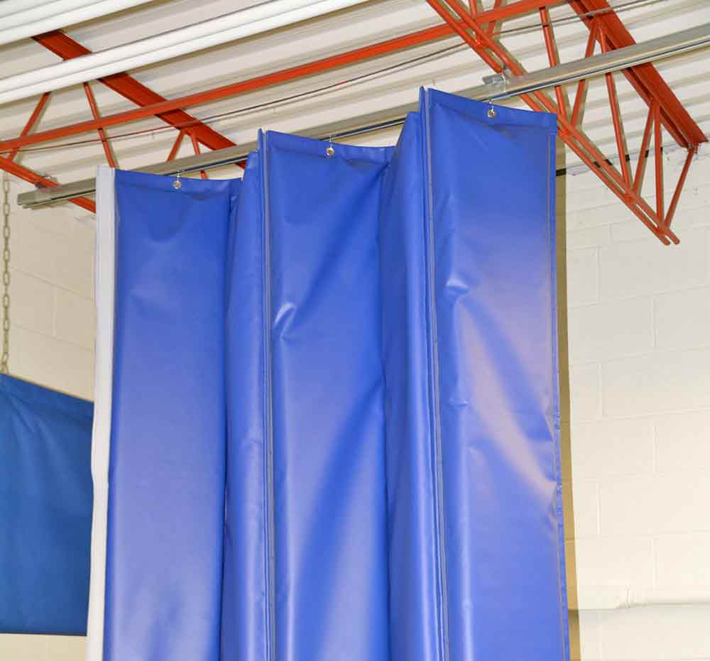 Industrial Curtain Enclosures : Industrial curtains divider walls enclosures partitions