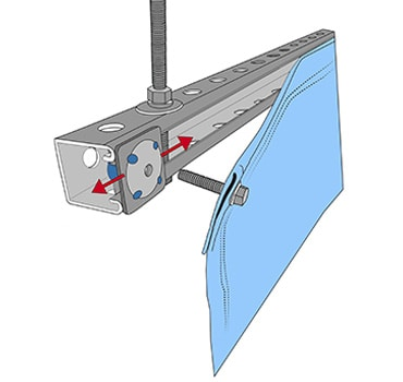 Ceiling Mounted Curtains & Industrial Curtain Track Systems
