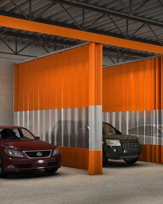 Industrial Commercial Clear PVC Auto Body Painting Booth Curtain Walls NEW